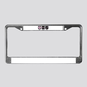 Eat sleep run License Plate Frame