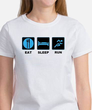 Eat sleep run Women's T-Shirt