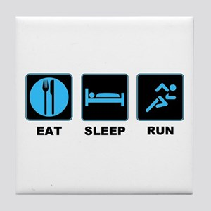 Eat sleep run Tile Coaster