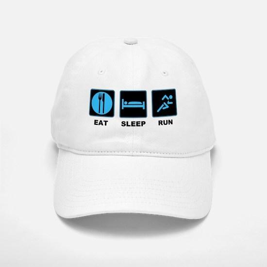 Eat sleep run Baseball Baseball Cap