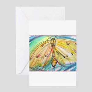 Yellow Butterfly, bright, Greeting Card