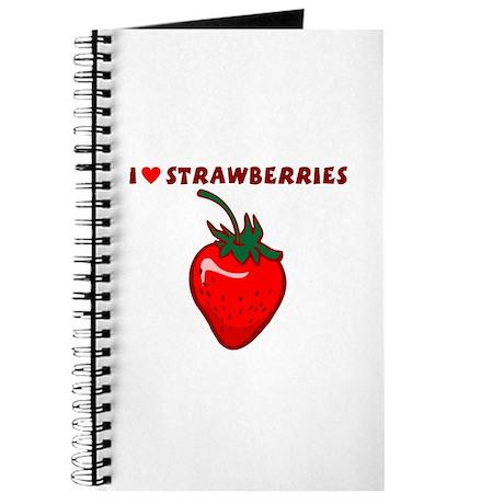 I Love Strawberries Journal