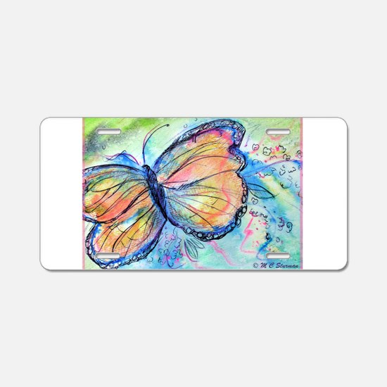Beautiful, Butterfly, Aluminum License Plate