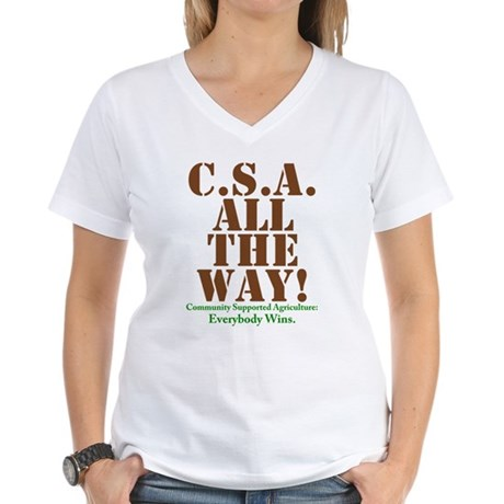 C.S.A. All The Way! Women's V-Neck T-Shirt