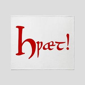 Hwaet! (Red) Throw Blanket
