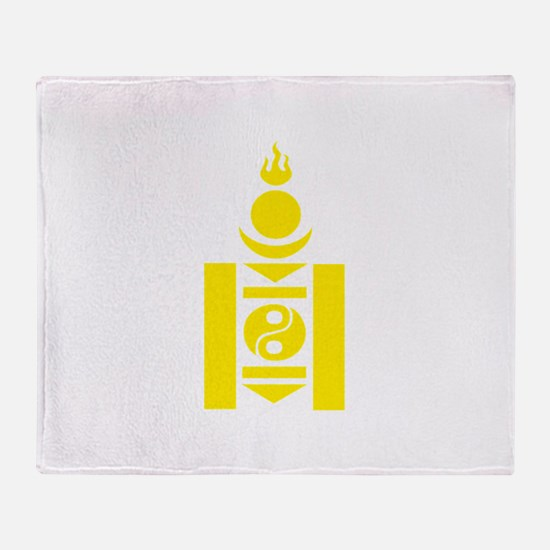 Soyombo Gold Throw Blanket