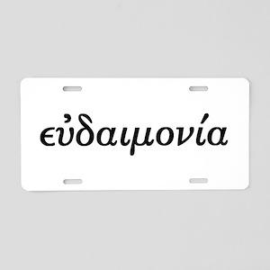Eudaimonia Aluminum License Plate