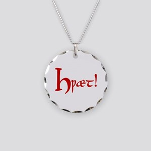 Hwaet! (Red) Necklace Circle Charm