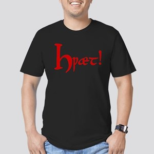 Hwaet! (Red) Men's Fitted T-Shirt (dark)