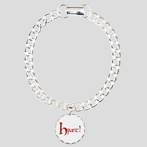 Hwaet! (Red) Charm Bracelet, One Charm