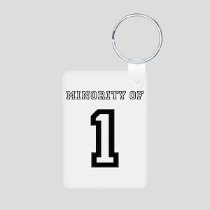 Minority of 1 Aluminum Photo Keychain