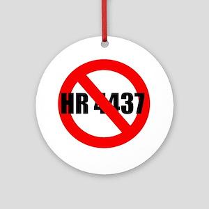 No HR 4437 Ornament (Round)