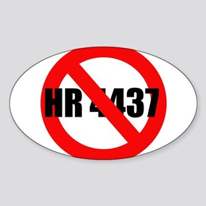 No HR 4437 Oval Sticker