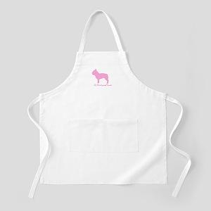 French Bulldog Pink BBQ Apron