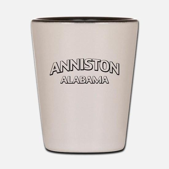 Anniston Alabama Shot Glass