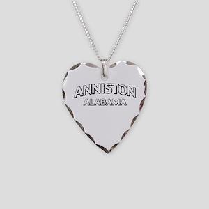 Anniston Alabama Necklace Heart Charm