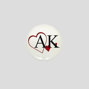 I Love Alaska Heart Mini Button