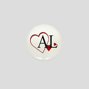 I Love Alabama Heart Mini Button