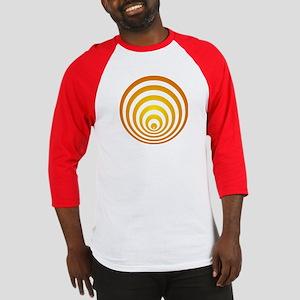 Baseball jersey with crop circle