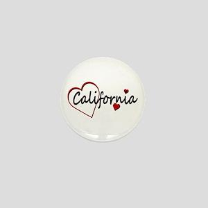 California Hearts Mini Button