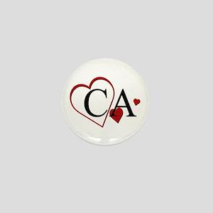 I Love California Heart Mini Button