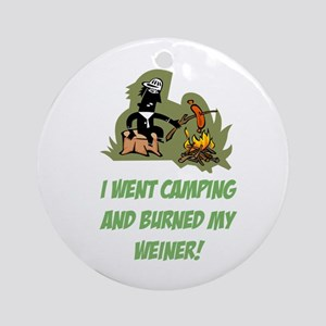 Burned My Weiner! Ornament (Round)