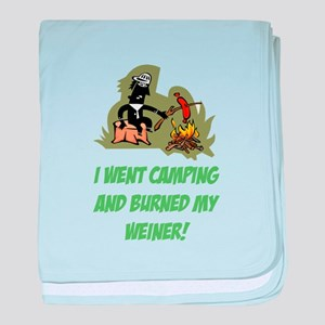 Burned My Weiner! baby blanket