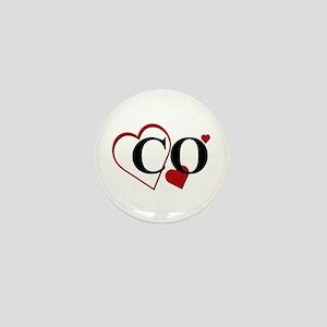 Love CO Colorado Hearts Mini Button