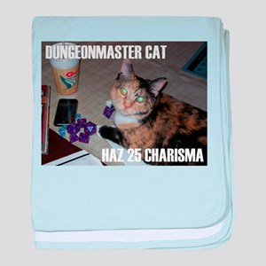 Dungeonmaster Cat baby blanket