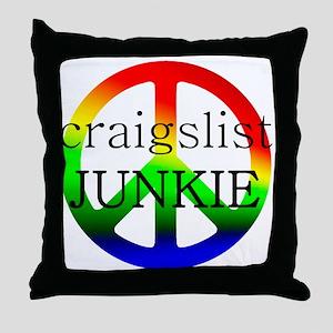craigslist JUNKIE Throw Pillow