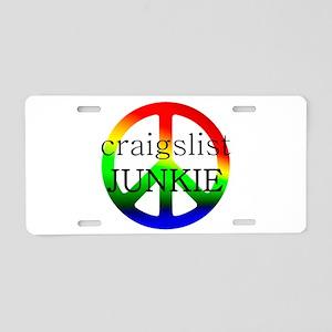 craigslist JUNKIE Aluminum License Plate