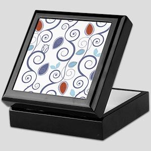 Abstract Floral Pattern Keepsake Box