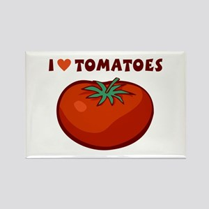 I Love Tomatoes Rectangle Magnet