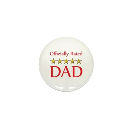 Officially Rated 5 Star Dad Mini Button (100 pack)