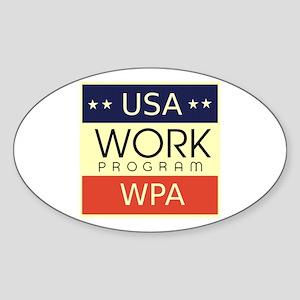 WPA Logo Sticker (Oval)