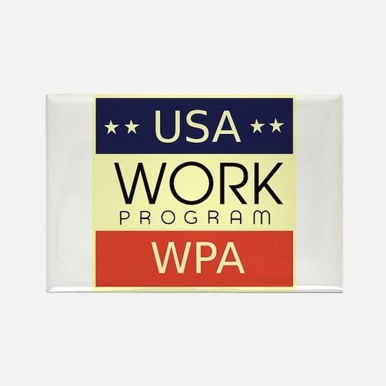 WPA Logo Rectangle Magnet