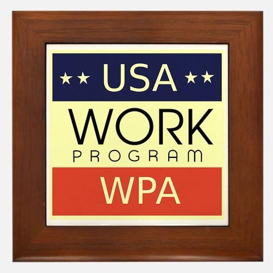 WPA Logo Framed Tile
