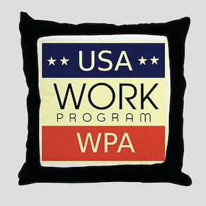 WPA Logo Throw Pillow