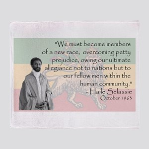 Haile Selassie Throw Blanket