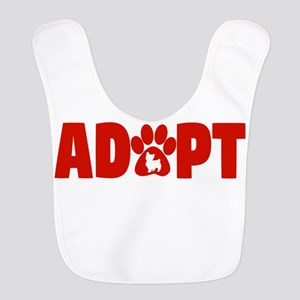 Cute Pets Paw Cat Dog Adopt Red Polyester Baby Bib
