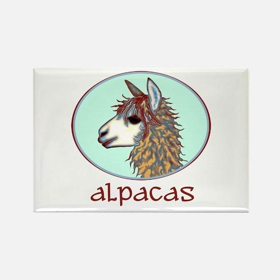 alpaca annie's Rectangle Magnet