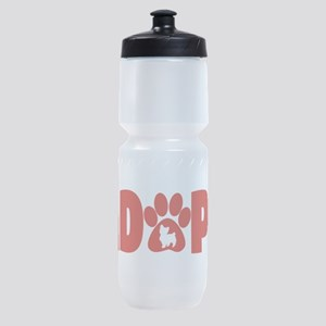 Cute Pets Paw Cat Dog Adopt Red Sports Bottle