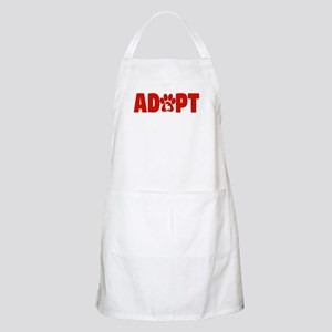 Cute Pets Paw Cat Dog Adopt Red Light Apron