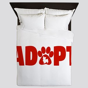 Cute Pets Paw Cat Dog Adopt Red Queen Duvet