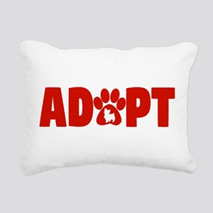 Cute Pets Paw Cat Dog Ad Rectangular Canvas Pillow