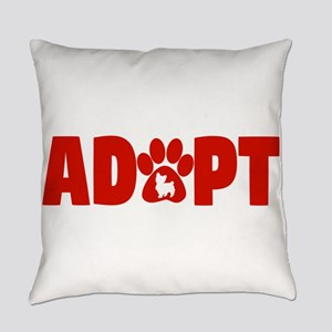 Cute Pets Paw Cat Dog Adopt Red Everyday Pillow