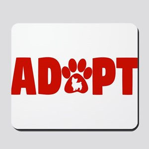 Cute Pets Paw Cat Dog Adopt Red Mousepad