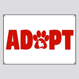 Cute Pets Paw Cat Dog Adopt Red Banner