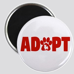 Cute Pets Paw Cat Dog Adopt Red Magnets