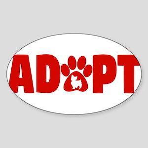 Cute Pets Paw Cat Dog Adopt Red Sticker